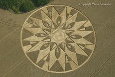 Mystery surrounds a strange pattern carved into the ground near Coventry. The spiral shape was spotted on satellite maps by a historian researching the fabled Knights Templar, who founded the tiny hamlet of Temple Balsall, near Balsall Common,. Crop Circles, Aliens And Ufos, Ancient Aliens, Circle Art, Circle Design, Nazca Lines, Mysterious Places, Alien Art, Knights Templar