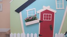 DIY Kids' Play House: Don't want to spend hundreds on a play house for your kids, but still wish they could have a little space of their own? Here's how you can utilize some unused space under stairs and build an adorable play house on the cheap with this easy DIY project: http://livewelln.co/1jOBM2a #DIY #HomeDecor #KnockItOffTV