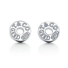 Tiffany & Co Outlet Charming 1837 Circle Earrings