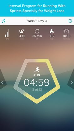 Running for Weight Loss: interval training plan, GPS, how-to-lose-weight tips by Red Rock Apps