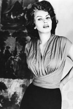 theniftyfifties: Sophia Loren, 1957