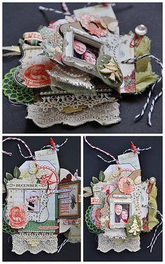 Emma Trout: Webster's Pages Tag Book Tutorial complete tutorial Scrapbooking Album, Mini Scrapbook Albums, Scrapbook Paper Crafts, Handmade Journals, Handmade Books, Mini Books, Mini Albums, Book Crafts, Diy Crafts