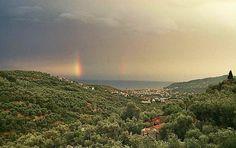 Blick vom Ort Besta auf das Diano Tal