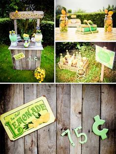 Vintage Lemon  Lime Party from @Mariah Rainier Style #vintage #parties