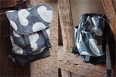 "Rucksack ""Pakke"" genäht von Nähzimmerplaudereien: http://de.dawanda.com/product/92355975-schnittmuster-rucksack-pakke-pdf-ebook"