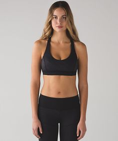 95203850d5 Hot Like Agni bra in black Racerback Sports Bra