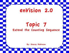 This is a bundle of all my enVision Math 2.0 Topic 7 products. It includes over 170 pages and slides of teaching aids for Topic 7:  I can statements, Lesson Plan for Topic 7, Topic 7 Task Cards for every lesson in Topic 7, Topic 7, Practice Pages for every lesson in Topic 7, Extra Tests for Topic 7, An ActivInspire flipchart for Topic 7 and a PDF version of the flipchart in case you do not use ActivInspire.