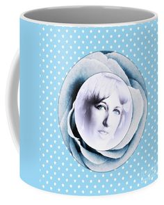 Face Of A Rose 2 Coffee Mug by Joan-Violet Stretch.  Small (11 oz.) my face on a mug 😊