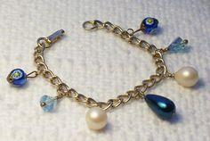 Vintage Repurposed Drop Bead Charm by SultanaVintageJewels on Etsy