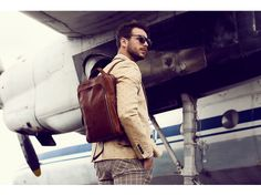 Handmade LeatherTime Resistance Leather Backpack Unisex Hand Crafted Vintage Daypack Rucksack for up to 13 inch Laptop Light Brown Dark Brown Leather, Real Leather, Leather Men, Leather Bags, Unique Backpacks, The Sun Also Rises, Leather Backpack For Men, Well Dressed Men, Canvas Leather