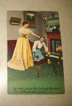C1910 Bamforth 1240 Suffrage Suffragette Post Card Henpecked Husband | eBay