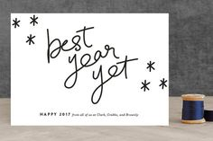 Best Year Yet non-photo holiday card by Up Up Creative for Minted