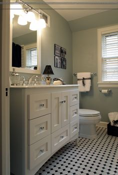 Wallingford Vanity with a Satin White finish and Shaker Drawers www.strasserwood.com
