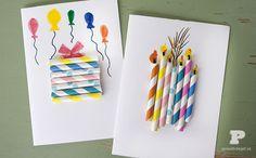 DIY straw cards