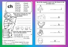 Teaching Resources for South African Teachers Consonant Digraphs, Afrikaans, Phonics, Kids Learning, Teaching Resources, Homeschool, Classroom, Teacher, Grade 2