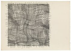 Stefan Bertalan, Untitled (Network with strong lines), 1978. Tusche auf Papier (Federzeichnung) - India ink on paper (pen drawing)