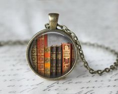 Book Necklace from teaANDtentacles on etsy