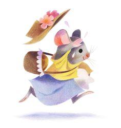 Genevieve Godbout illustration  -La petite souris va passer