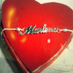 ♥ Collar de plata 950 #jewerly #namenecklace #alicia #mothersday #marlene