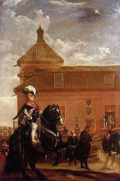 Lección de equitación del príncipe Baltasar Carlos de Austria y Borbón, hijo de…
