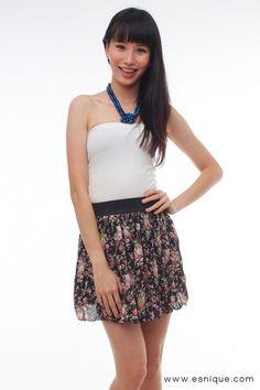 Floral Skirt Black - Esnique