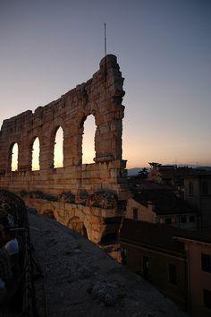 The Verona Arena (Arena di Verona) a Roman amphitheatre in Verona, Italy
