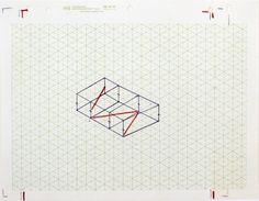 "garadinervi: ""Fred Sandback, Untitled (Study for Kunstraum Munich), c. 1975, Pulitzer Arts Foundation """