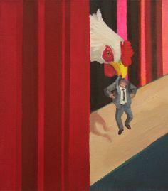 Arthur Arnold / Perdendo o Controle / Acrílica sobre tela  - 2012 - 35,5 x 30,5 cm