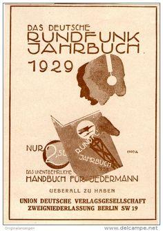 Original-Werbung/Inserat/ Anzeige 1929 - RUNDFUNK-JAHRBUCH  ca. 80 x 100 mm