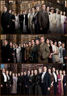 The Casts of Downton. Can beleive that Sybil and Matthew aren't going to be there for season 4. :(