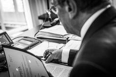 Joachim Gauck in his office