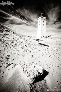 """Abandoned Lighthouse 6"". Panoramic photo of the obsolete lighthouse at Rubjerg Knude in Northern Jutland, Denmark."