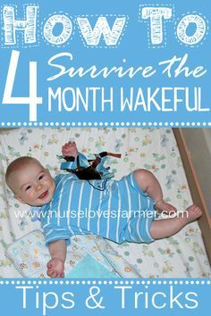 """4 month old waking up more than normal at night? Not really to eat or because they need you, but just to party? Totally normal! Here's some tips to help get you through the """"4 month wakeful"""" period!"""