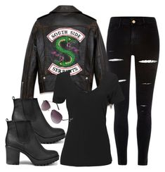 A fashion look from January 2018 featuring t shirts, skinny jeans and high heel booties. Browse and shop related looks. Bad Girl Outfits, Teenager Outfits, Teen Fashion Outfits, Outfits For Teens, Fashion Clothes, Greaser Outfit, Badass Outfit, Tv Show Outfits, Fandom Outfits