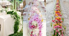 Decorating your table in a gorgeous fresh floral runner is one way to make a BIG statement at your reception. The idea of having a stripe of flowers or greens cascading off the table is completely drool-worthy and utterly romantic! It can transform a classic tablescape into something refreshing. Although a runner made of blossoms …