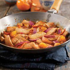 tangerine pork stir fry - making it!