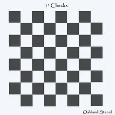 """Joanie Prim Stencil Checkerboard Game board Sign 2.5/"""" Check size Country Family"""