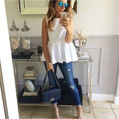 #bluzka z baskinka w kolorze białym, dostepna w roz.34, 36 #bawelna # #instafollow #streetfashion #streetfun #streetstyle #fashion #hifashion #highstreet #Mint_label_
