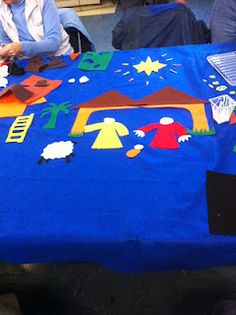 Things for Children's worship space. Christmas Nativity, Christmas 2016, All Things Christmas, Kids Church, Church Ideas, Prayer Stations, Worship Ideas, Mary And Martha, Felt Boards