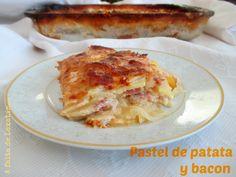 A falta de Lexatín... buenas son tortas: Pastel de patata y bacon