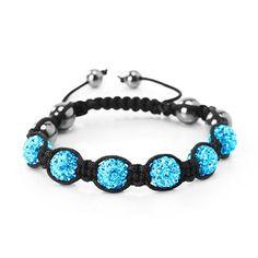 Shamballa Bracelet Swarovski Element Crystal Balls, Shamballa 6 Disco Balls - Choose Your Color - Listing price: $44.00 Now: $0.99