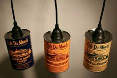 upcycle coffee can pendant light | French Quarter Cafe Du Monde Coffee Can Pendant ... | Around the house