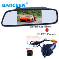 "car reserve  camera with 5""hd lcd  car screen monitor +170 degreen Original use  FOR HYUNDAI I30/ for kia soul"
