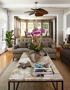 Classic Cottage - beach-style - Living Room - New York - Jules Duffy Designs