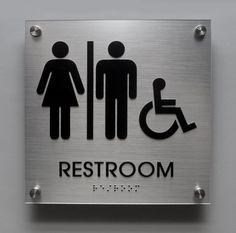 ADA Compliant Family Bathrooms With Adult And Child Sized Toilets - Ada compliant bathroom signs
