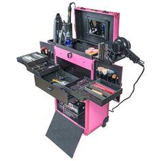 Shany Rebel Alpha Pro Makeup Train Case Pink Interior