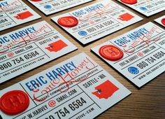 Business Cards, Self-Promotion by Eric Harvey, via Behance
