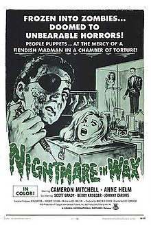 Nightmare in Wax Cameron Mitchell, Anne Helm, Scott Brady, Berry Kroeger, Victoria Carroll ~ Director: Bud Townsend Horror Movie Posters, Horror Films, 1969 Movie, Cameron Mitchell, Classic Horror Movies, Vintage Horror, Indie Movies, Vintage Movies, Wax Museum