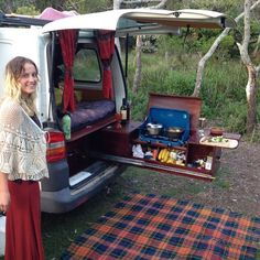 This is our kitchen setup. I did it with the help from @vanlifediaries for a really cheap price. The gas bottle sits under the wooden bowl. With heaps of storage to the left of the cooker (top access). It's the perfect height and when we fitout our next home... We will do it exactly the same. I love being on my feet when somethings on the stove and the tailgate gives good protection. Cooking is a massive part of Ashleigh's and my wind down from the madness of a working day, so a bottle of…