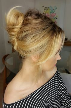 Messy French twist.